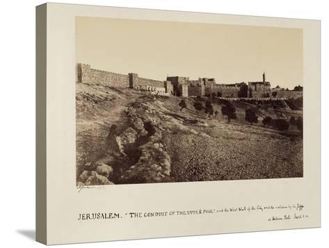 The Conduit of the Upper Pool and the West Wall of the City and the Entrance by the Joppa or…-James Graham-Stretched Canvas Print