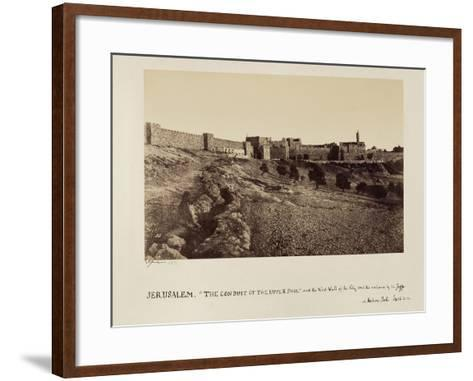 The Conduit of the Upper Pool and the West Wall of the City and the Entrance by the Joppa or…-James Graham-Framed Art Print
