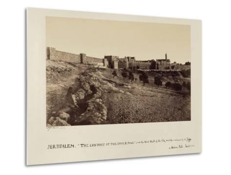 The Conduit of the Upper Pool and the West Wall of the City and the Entrance by the Joppa or…-James Graham-Metal Print