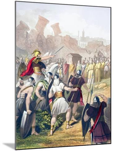 Joshua at the Head of the Israelite Army in Front of the Walls of Jericho--Mounted Giclee Print