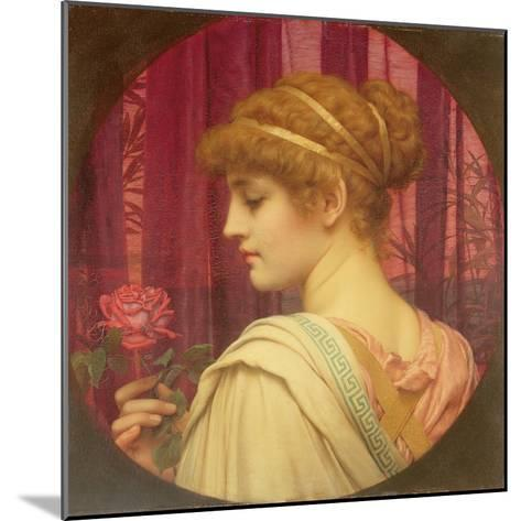 Girl with Red Rose-John William Godward-Mounted Giclee Print