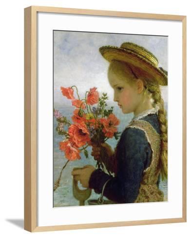 Poppy Girl-Karl Wilhelm Friedrich Bauerle-Framed Art Print
