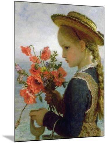 Poppy Girl-Karl Wilhelm Friedrich Bauerle-Mounted Giclee Print