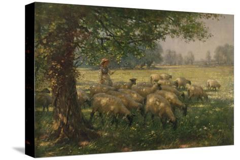 The Shepherdess-William Kay Blacklock-Stretched Canvas Print