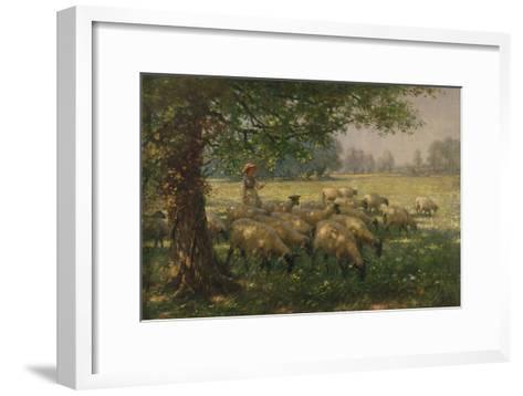The Shepherdess-William Kay Blacklock-Framed Art Print