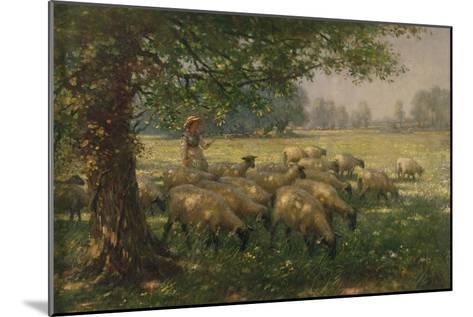 The Shepherdess-William Kay Blacklock-Mounted Giclee Print