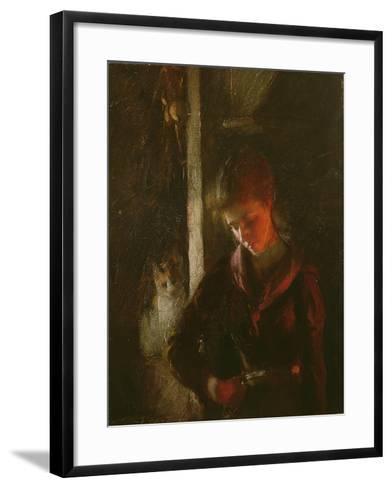 By the Fireside-Frank Bramley-Framed Art Print