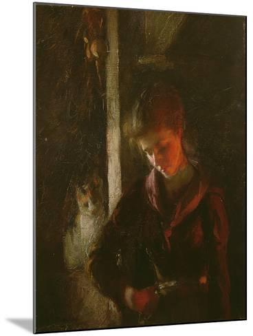 By the Fireside-Frank Bramley-Mounted Giclee Print