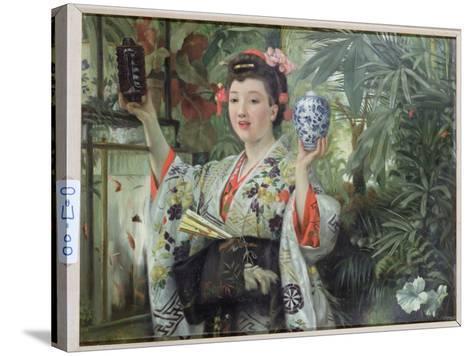 The Japanese Vase, C.1870-James Tissot-Stretched Canvas Print
