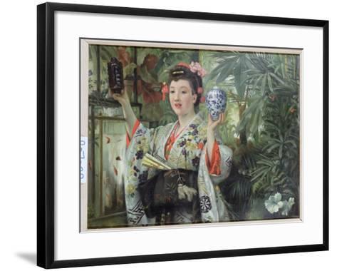 The Japanese Vase, C.1870-James Tissot-Framed Art Print