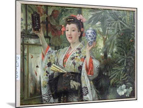 The Japanese Vase, C.1870-James Tissot-Mounted Giclee Print
