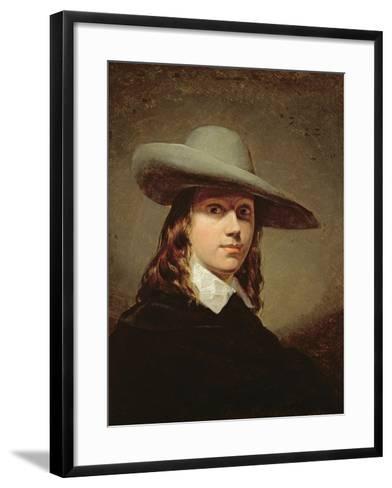 Self-Portrait in a Broad-Brimmed Hat, 1848-Anthony Frederick Augustus Sandys-Framed Art Print