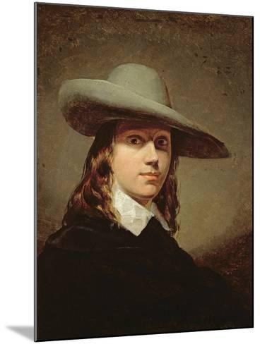 Self-Portrait in a Broad-Brimmed Hat, 1848-Anthony Frederick Augustus Sandys-Mounted Giclee Print