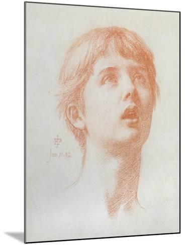 Angel's Head - Study for the Mosaic in St Paul's, 1882-Edward John Poynter-Mounted Giclee Print