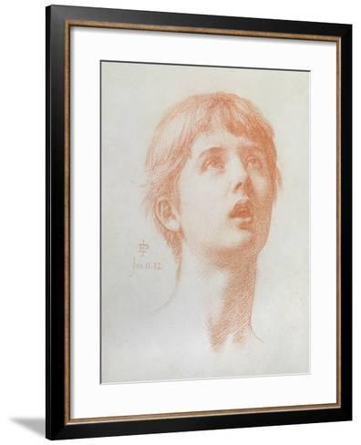 Angel's Head - Study for the Mosaic in St Paul's, 1882-Edward John Poynter-Framed Art Print
