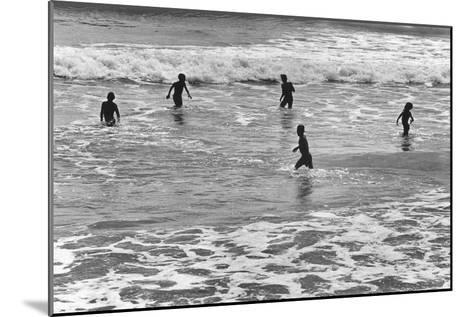Children Playing in Sea, Somnath--Mounted Photographic Print