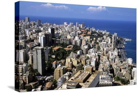 Aerial View of West Beirut--Stretched Canvas Print