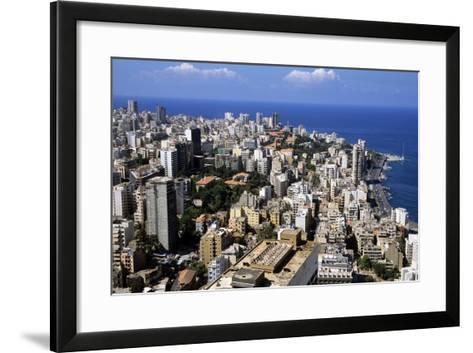 Aerial View of West Beirut--Framed Art Print