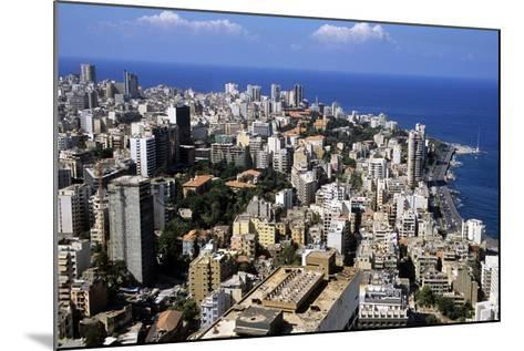Aerial View of West Beirut--Mounted Photographic Print
