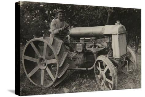 First Tractor-Russian Photographer-Stretched Canvas Print