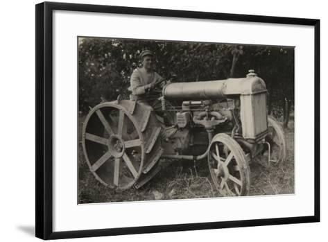 First Tractor-Russian Photographer-Framed Art Print