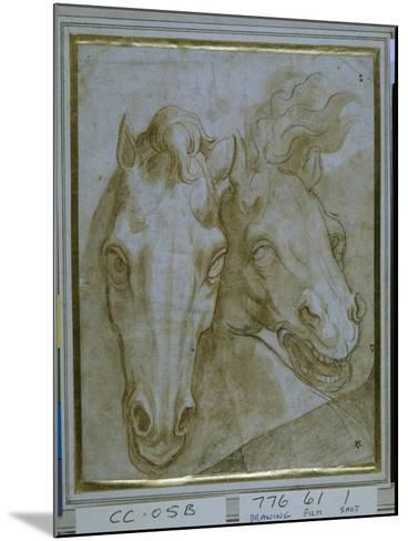 Studies for the Heads of Two Horses--Mounted Giclee Print