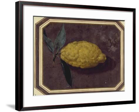 A Lemon--Framed Art Print