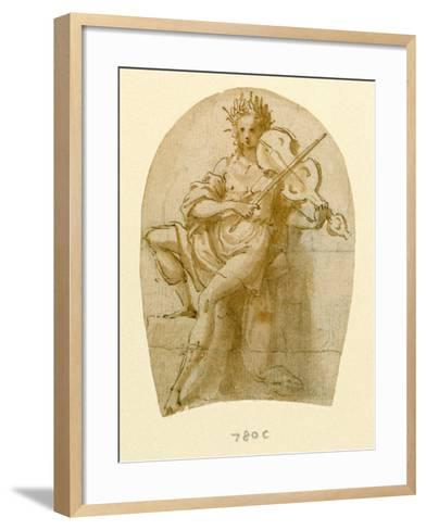 Apollo Seated, Playing His Viol-Bernadino India-Framed Art Print