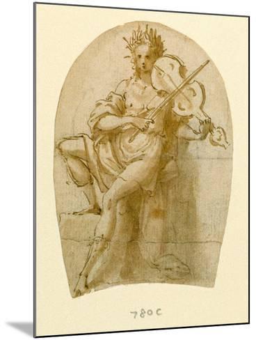 Apollo Seated, Playing His Viol-Bernadino India-Mounted Giclee Print