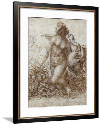 Leda and the Swan-Leonardo da Vinci-Framed Art Print