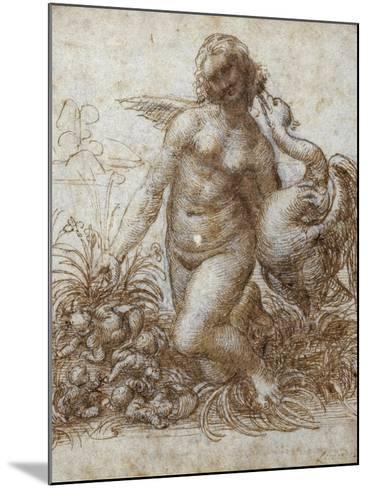 Leda and the Swan-Leonardo da Vinci-Mounted Giclee Print