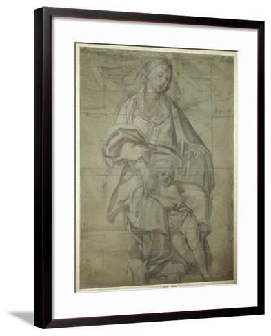 Madonna and Child-Domenichino-Framed Art Print