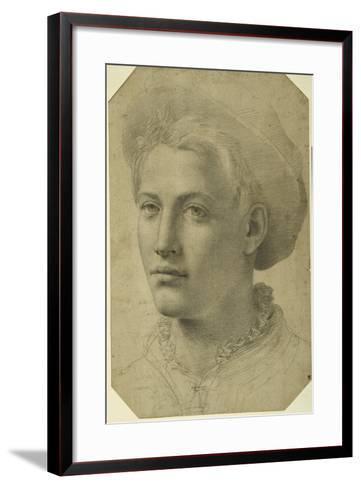 Portrait Head of a Youth Wearing a Cap, C.1530-40--Framed Art Print