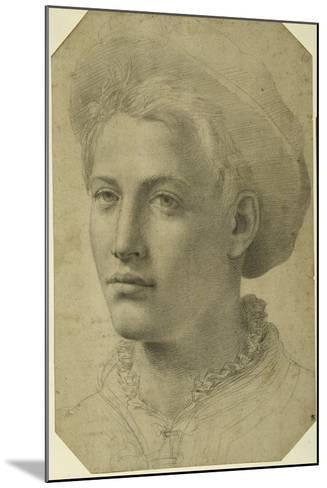 Portrait Head of a Youth Wearing a Cap, C.1530-40--Mounted Giclee Print