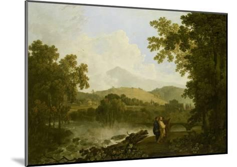 Cicero and His Friends, Atticus and Quintus, at His Villa at Arpinum, 18th Century-Richard Wilson-Mounted Giclee Print