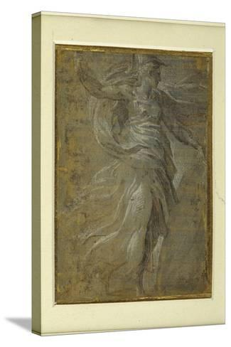 Minerva with a Shield in Her Left Hand, a Lance in Her Right-Parmigianino-Stretched Canvas Print