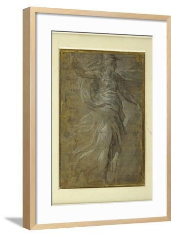 Minerva with a Shield in Her Left Hand, a Lance in Her Right-Parmigianino-Framed Art Print