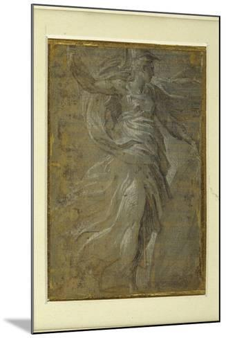Minerva with a Shield in Her Left Hand, a Lance in Her Right-Parmigianino-Mounted Giclee Print