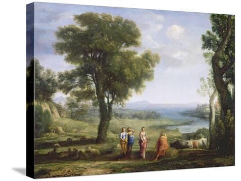 Landscape with the Heliads Searching for their Brother Phaeton-Claude Lorraine-Stretched Canvas Print