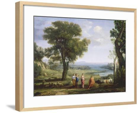 Landscape with the Heliads Searching for their Brother Phaeton-Claude Lorraine-Framed Art Print
