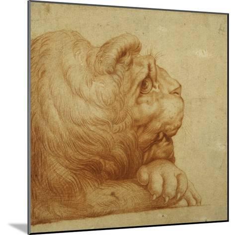 A Lion's Head in Profile-Francesco De Rossi Salviati Cecchino-Mounted Giclee Print