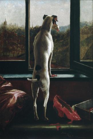 Waiting-Julia Bracewell Folkard-Stretched Canvas Print