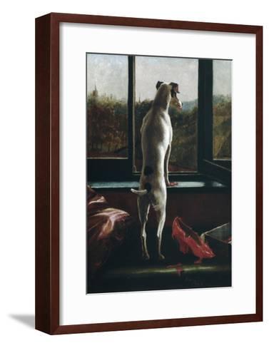 Waiting-Julia Bracewell Folkard-Framed Art Print