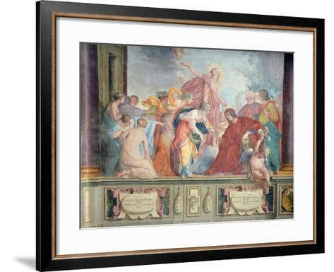 Lorenzo De Medici and Apollo Welcome the Muses and Virtues to Florence- Cecco Bravo-Framed Art Print