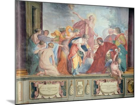 Lorenzo De Medici and Apollo Welcome the Muses and Virtues to Florence- Cecco Bravo-Mounted Giclee Print