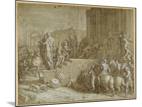 The Legend of Seven Kings Paying Homage to a Pope-Giuseppe della Porta Salviati-Mounted Giclee Print