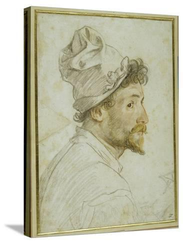 Head and Shoulders of a Bearded Man Wearing a Cap-Federico Zuccaro-Stretched Canvas Print