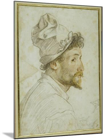 Head and Shoulders of a Bearded Man Wearing a Cap-Federico Zuccaro-Mounted Giclee Print