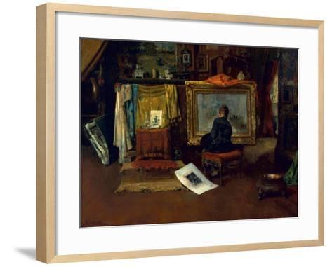 The Inner Studio, Tenth Street, 1882-William Merritt Chase-Framed Art Print