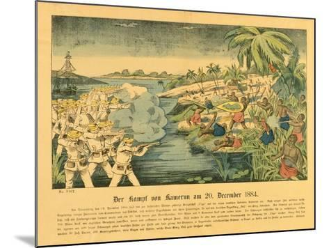 Duala Uprising in German Cameroon, with the Sms Olga in the Background, 20 December 1884, 1884-German School-Mounted Giclee Print